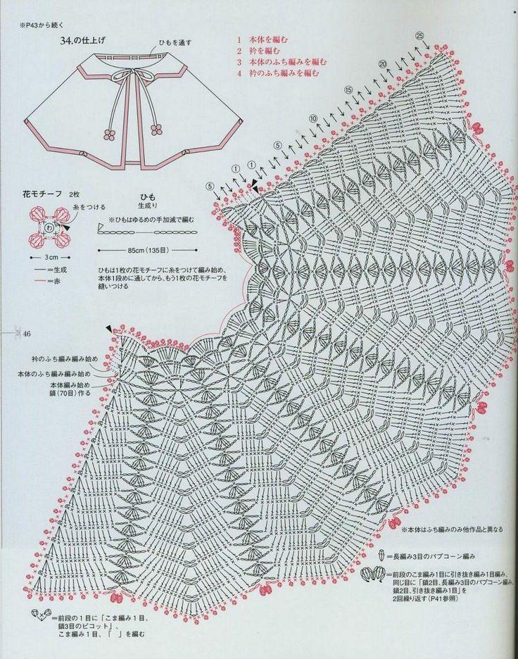 شغل ابره NEEDLE CRAFTS: بونشو كروشيه للبيبي - baby crochet ponsho