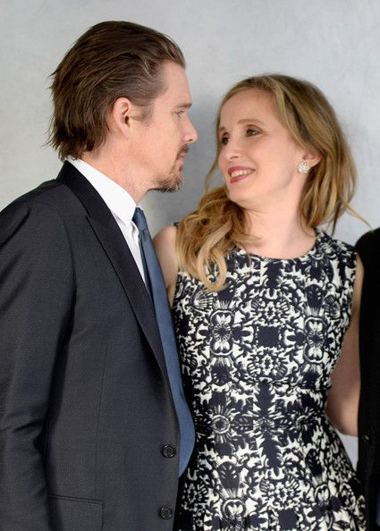 Actor Ethan Hawke (L) and actress Julie Delpy attend the 86th Academy Awards nominees luncheon at The Beverly Hilton Hotel on February 10, 2...