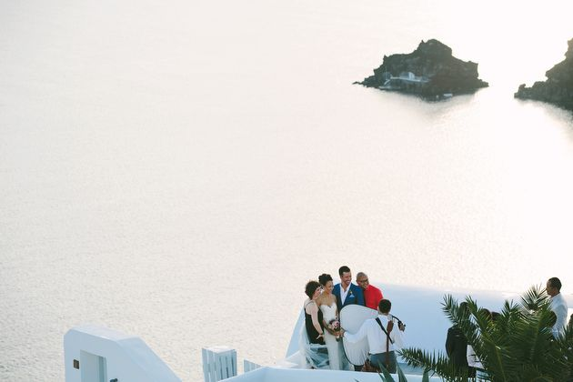 Behind the Scenes of a Santorini Wedding - by Stella And Moscha - Photography by Thanos Asfis & Yiannis Alefantou