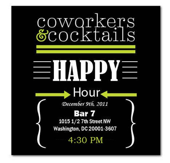happy hour invite wording samples
