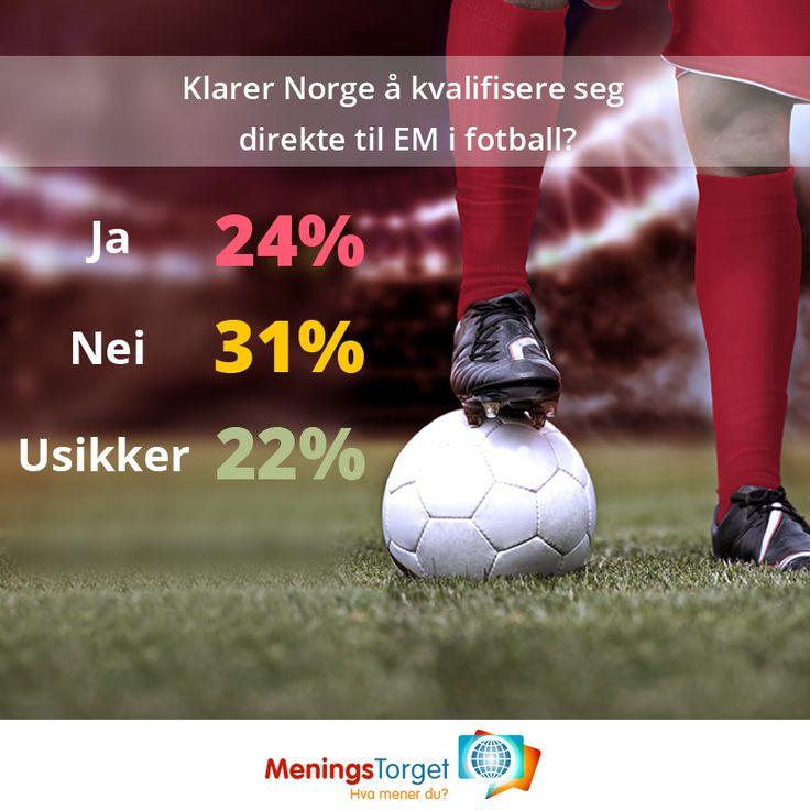Spørreundersøkelser: Går Norge direkte til fotball EM?