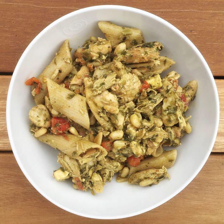 The BEST Chicken Pesto Pasta Recipe Ever!
