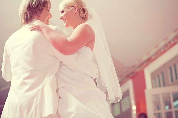 Every now and again, I get asked why we call some of the weddings we feature on Equally Wed a gay wedding or a lesbian wedding.  The first reason we use terms such as gay wedding, lesbian wedding, same-sex wedding or LGBTQ wedding is SEO. Our readers are using these terms to search for wedding planning inspiration that is tailored to them. Pic of Kirsten and Maria Palladino's first dance by Our Labor of Love