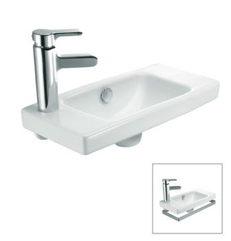 Reach® Basin - Right Hand Tap Hole  Features:    Basin design for right hand tap hole  Overflow outlet