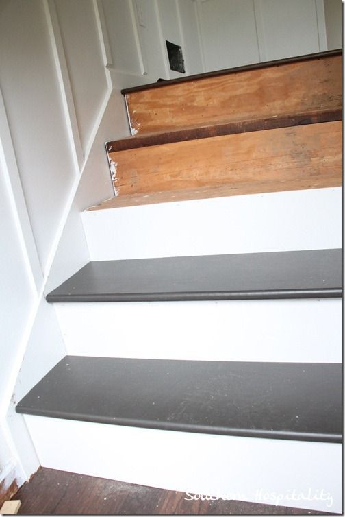 25 best ideas about stair treads on pinterest wood for Ideas for redoing stairs