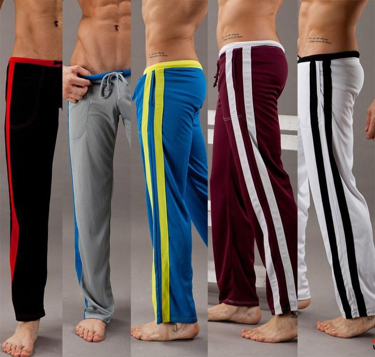 Men Full Length Exercise Long Pants cotton sexy bodybuilding home wear yoga designer joggers #fitnessapparel #pants #activewear #amalhantashfitness #sportswear