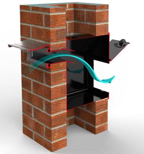 Through Wall Mail Drop Slot With Optional Receptacle Garage Door Design Mailbox Design Brick Columns