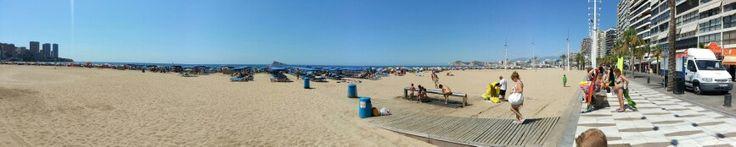 Panorámica de la playa de Benidorm