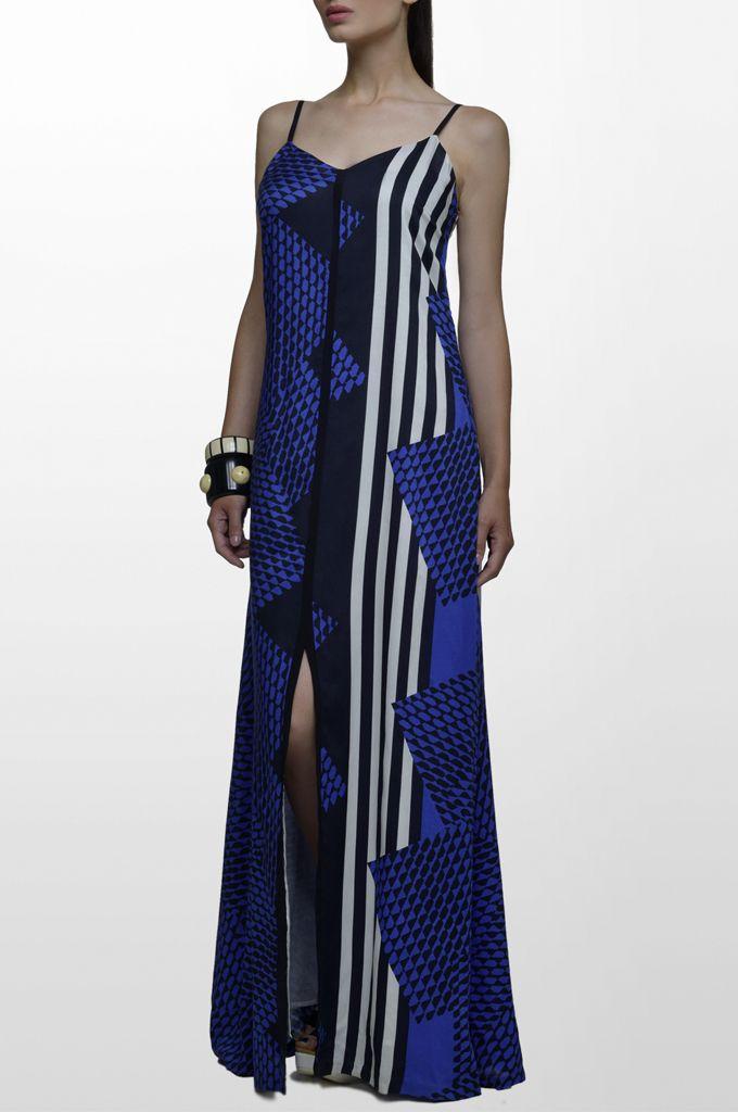 Sarah Lawrence - maxi printed dress.