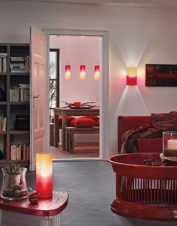Cartaya tafellamp, Rood / oranje – 83374 | Tafellampgigant.nl