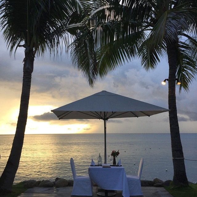 Signature Blu Tables - Radisson Blu Resort Fiji
