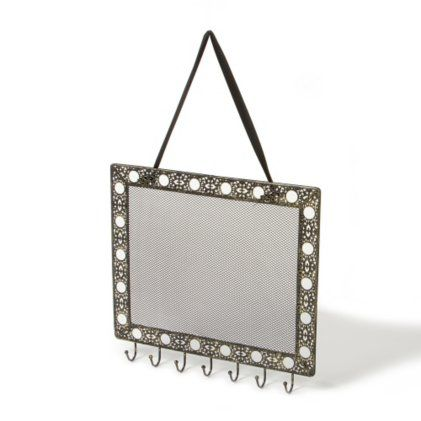 Antique Rectangle Hanging Jewelry Holder