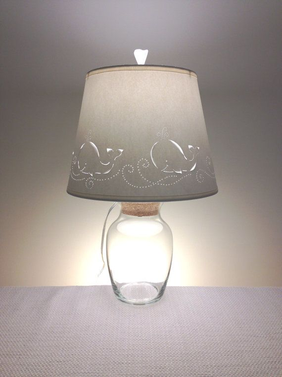 Nursery Lamp Whale Border Paper Lampshade By Barbaragailslamps