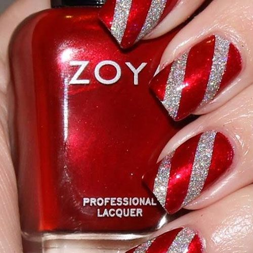 striped red and glitter