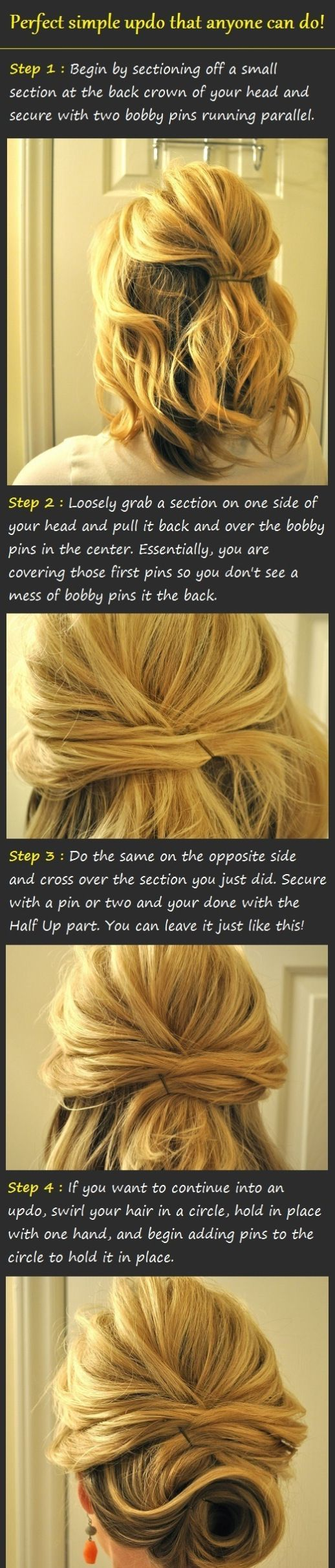 If you'd only look at the final photo of this hairstyle, it's easy to think that only a professional hairstylist can do it. It looks complicated and puzzling. But look at the step-by-step procedure, and you'll see even a novice like you can do it without