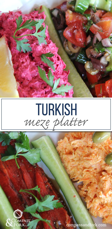 Turkish Meze Platter www.compassandfork.com