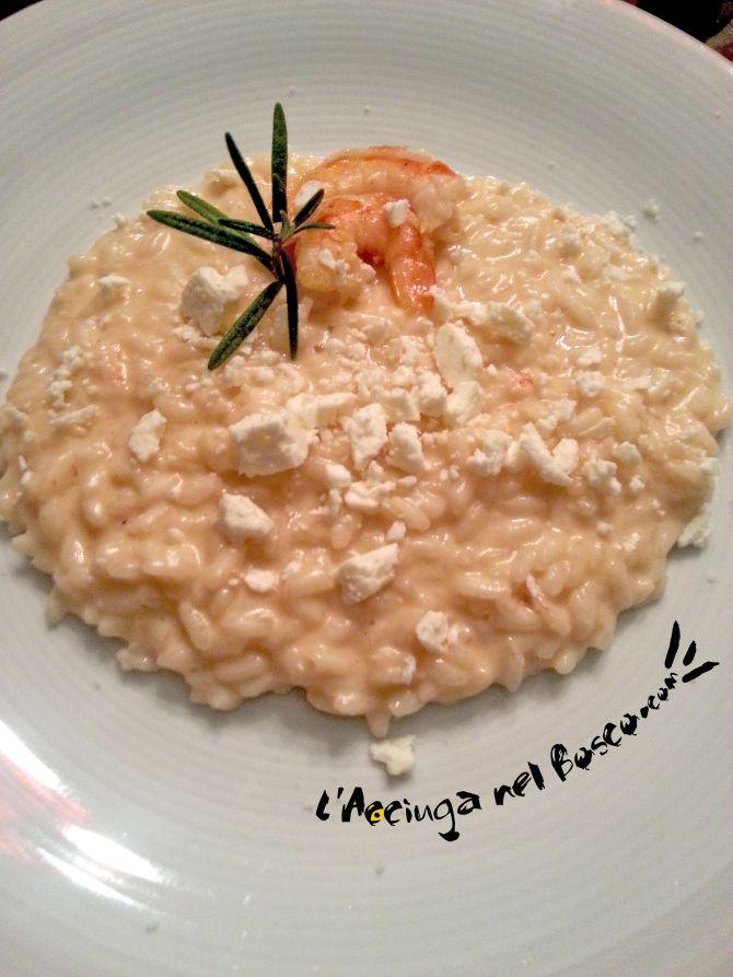 Risotto Mazzancolle e Castelmagno  Risotto with Castelmagno cheese...creamy and delicious