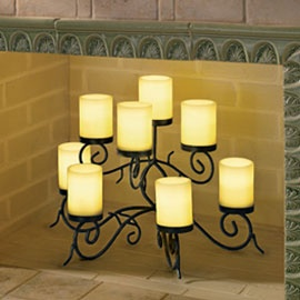 Candle holder nicely arranges your candles inside the ...