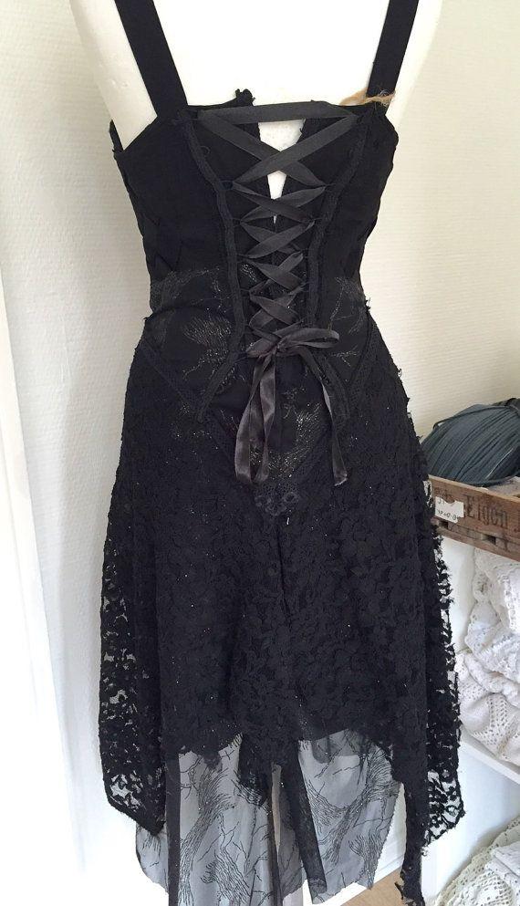 Black lace dress . sexy black dress . Womens black by RAWRAGSbyPK