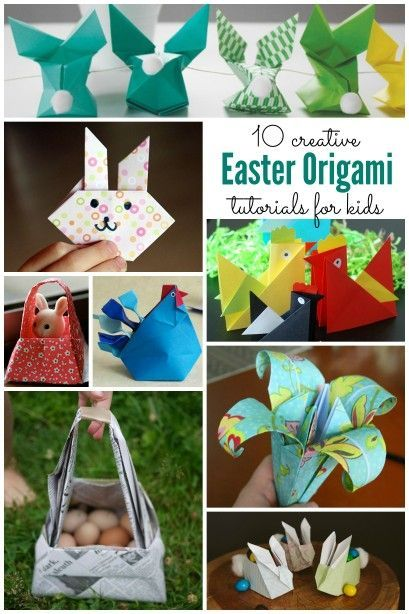 10 Easy Origami Tutorials perfect for Easter ~ Origami for kids