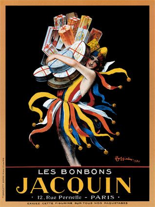 """Jacquin Paris """"Candy Madness"""" - http://www.enjoyart.com/single_posters/chocolate_candy/jacquin.htm"""