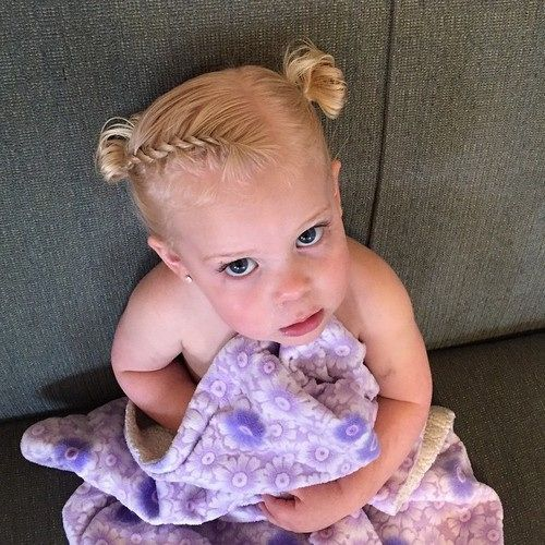 braid and knots toddler's hairstyle