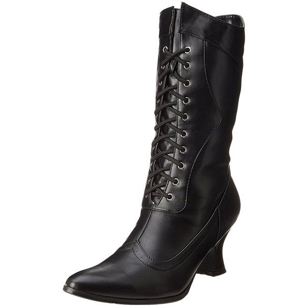 Ellie Shoes Women's 253 Amelia Victorian Boot ($38) ❤ liked on Polyvore featuring shoes, boots, wide boots, victorian footwear, wide width boots, wide fit boots and wide fit shoes