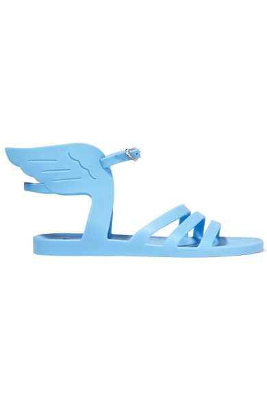 Ancient Greek Sandals - Ikaria Rubber Wing Sandals - Blue - IT37