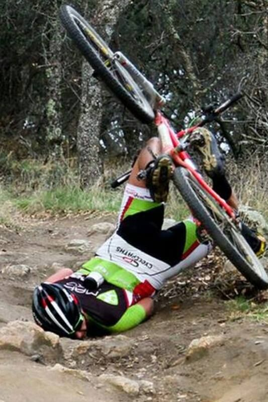 This is how I eat the dirt each time I take my bike out