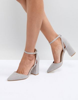 58a82846e54e RAID Katy Gray Block Heeled Shoes in 2019