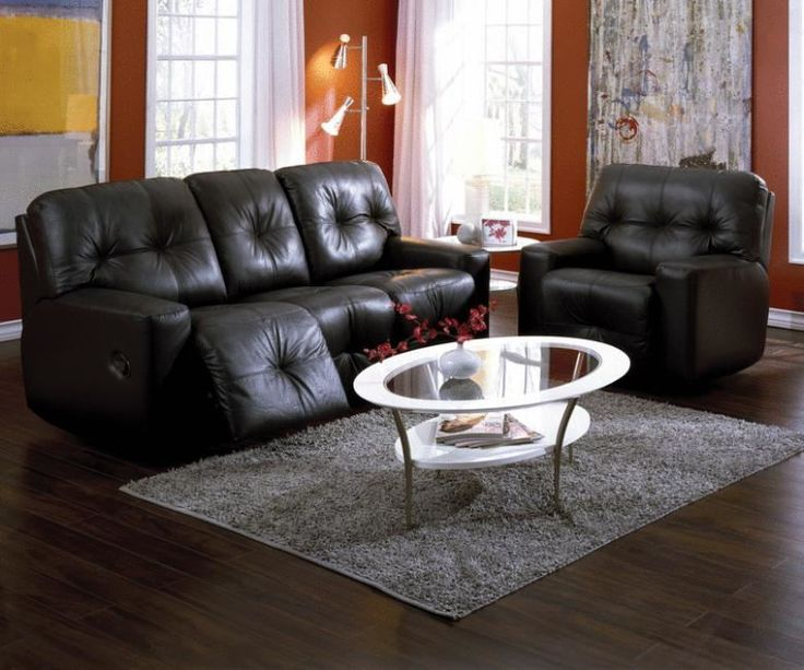 Palliser Furniture Mystique Reclining Sofa Type: Manual, Upholstery: All  Leather Protected   Tulsa II Dark Brown