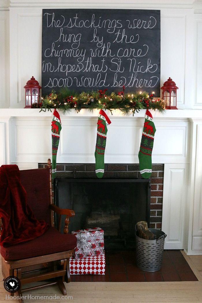 Chimney Christmas Decorations 334 best christmas decorating ideas images on pinterest