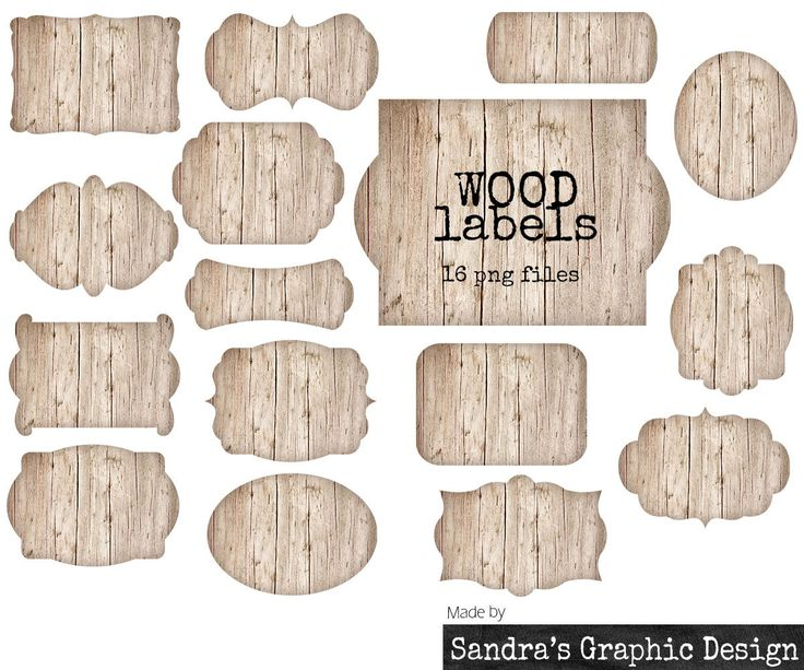 New to SandraGraphicDesign on Etsy: Wood labels clipart with 16 light brown labels in different shapes with wood texture clipart 300 dpi PNG  files (5060) (4.00 USD)