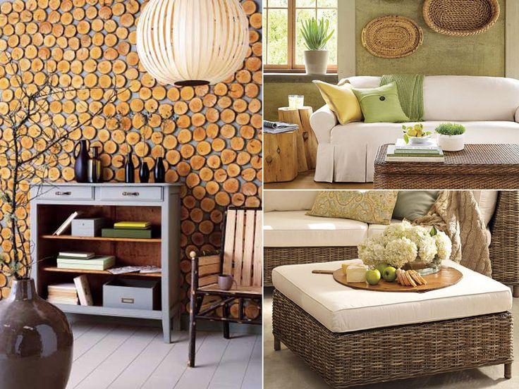 Eco-style в деталях - оттенок зеленого за диваном!