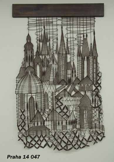 Wow! My hometown in bobbin lace.