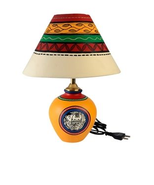 46 best light it up images on pinterest beige taupe and base category handpainted madhubani tapered lamp colour cream and multi material base terracotta mozeypictures Choice Image