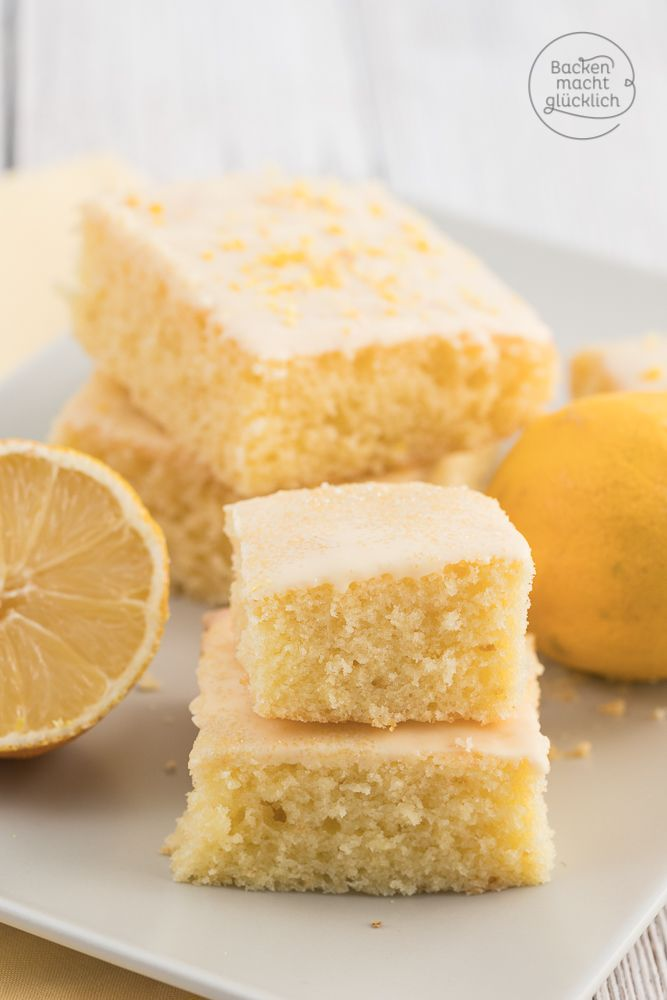 Der beste Zitronenkuchen: saftig, luftig, einfach und schnell. Die Zitrone …   – Backenmachtglücklich Rezepte