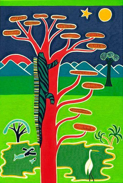 La Iguana de Girardot, 2012. Oil on linen, 78 x 51 cm. Private collection. #painting #oilpainting #finearts #contemporaryart #cristinarodriguez
