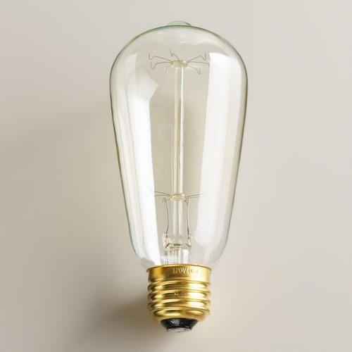 One of my favorite discoveries at WorldMarket.com: Edison Filament Light Bulb