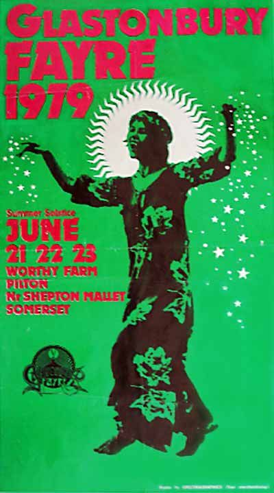 Glastonbury Fayre 1979-poster from the first one I attended.