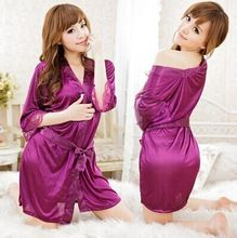 Ladys' Sexy Babydoll Lingerie Robe bathrobes sleepwear female deep V-neck dress Sexy Pajamas Best Seller follow this link http://shopingayo.space