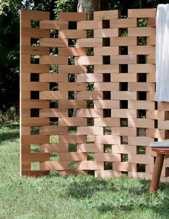 Awesome Paravent de blocs de bois