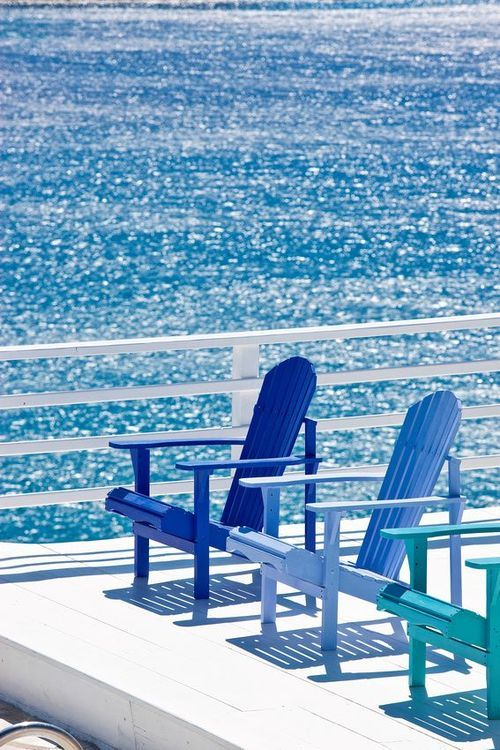 summer relaxation. | Ocean | Patio | Patio Chairs | Blue Chair | Blue Ocean | Relaxing |
