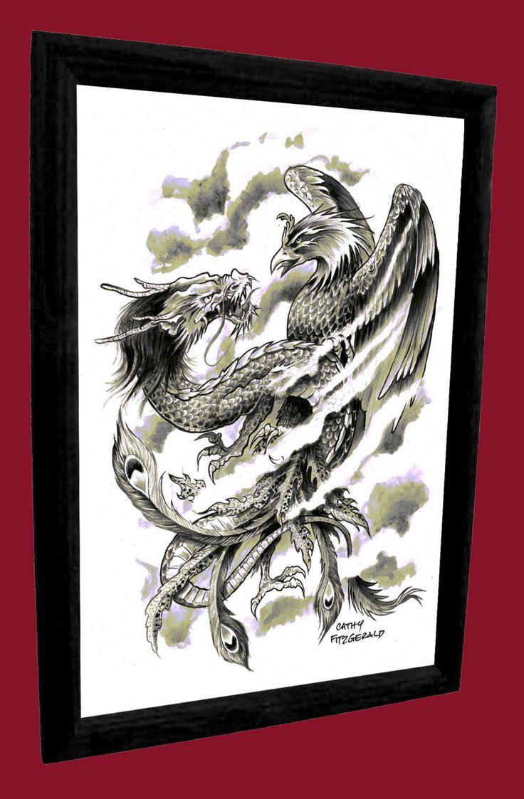 phoenix dragon tattoo japanese