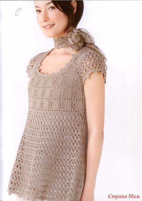 Туника и пуловер: спицы+крючок. Обсуждение на LiveInternet - Российский Сервис Онлайн-Дневников