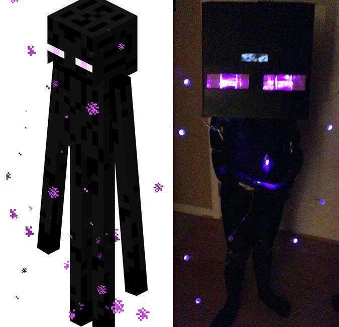 Minecraft Enderman disfraz de Halloween