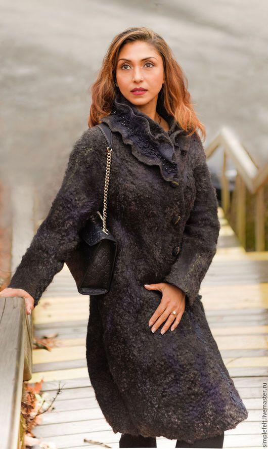 Верхняя одежда ручной работы. Пальто ' Цвет Коры'. Svetlana Mae Светлана Маэ (simplefelt). Ярмарка Мастеров.