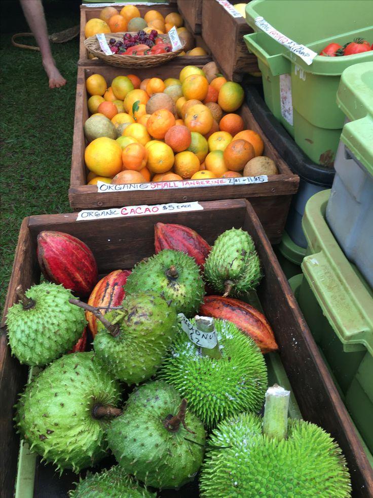 Fruits au marché de Kauai
