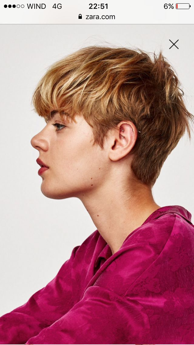 Pin By I ª On Cheveux Short Hair Styles Tomboy Hairstyles Androgynous Hair