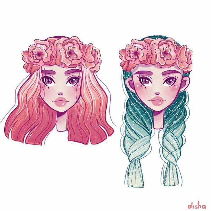 Oltre 25 fantastiche idee su capelli manga su pinterest for Disegni da colorare tumblr
